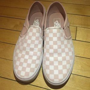Blush Pink Checkered Vans